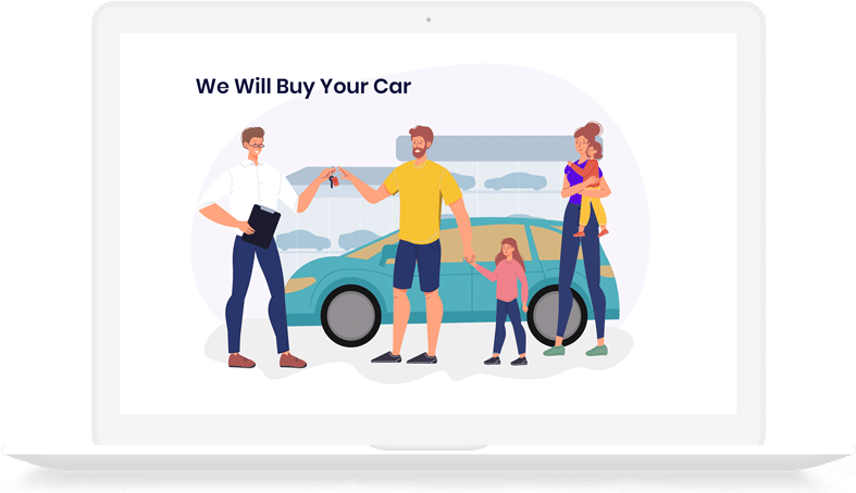 Local Car Buyer Laptop person buying car